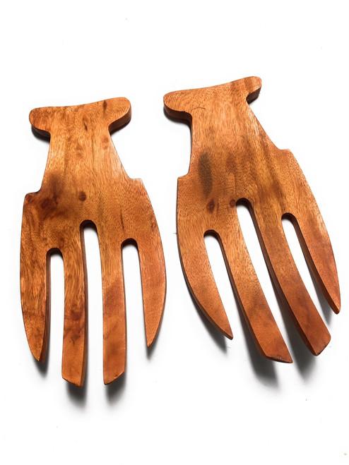 "Fish Tail Design Salad/Pasta Server 7"" - Wooden Tableware   #iwkrw777f"