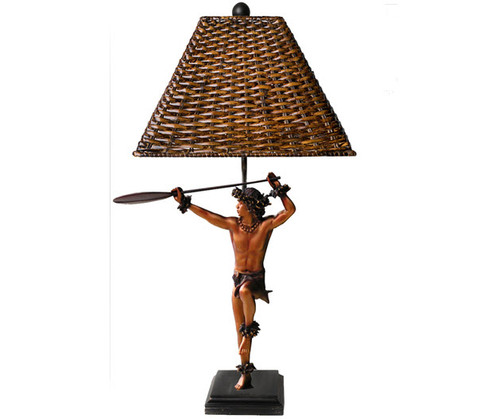 "Hoewaa ""Canoe Paddler"" Lamp 24"" By Kim Taylor Reece | #ktr680034590250"