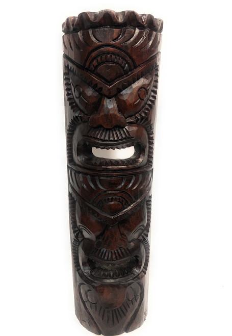"Premium Love & Prosperity Tiki Mask 40"" Walnut - Hand Carved | #rtg1010100s"