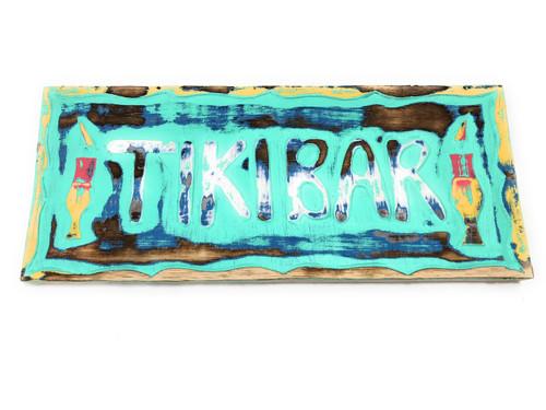 """Tiki Bar Sign w/ Cocktails Sign 16"""" - Tiki Bar Decor   #dpt505540tw"""