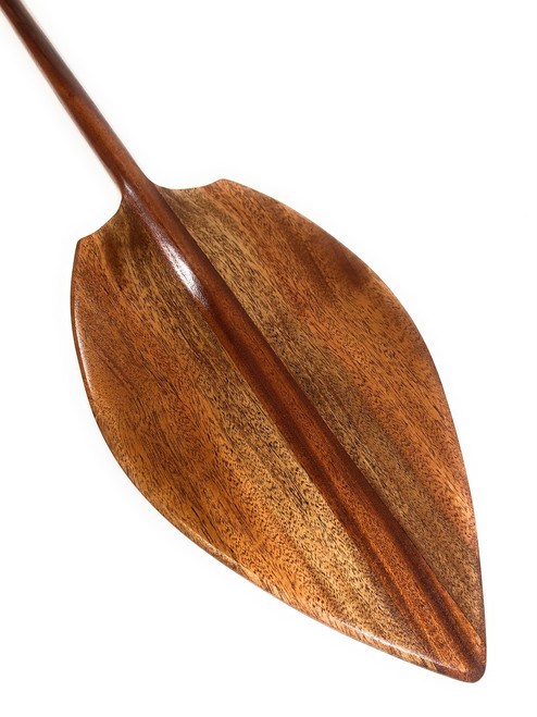 "Multi Tone Koa Paddle 50"" w/ T-Handle Alii Design Decorative - Made in Hawaii 