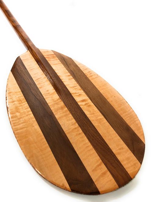 "Decorative Oar Black Walnut & Bird Eye Maple 60"" Steersman Design | #koa2036"