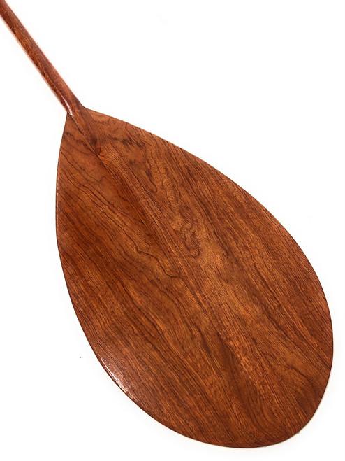 "Extra Large Tear Drop Tiger Wood Canoe Outrigger Paddle 72"" | #koa2085"