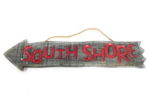 "SouthShore Arrow Driftwood Sign 12"" - Tropical Decor   #dpt528350"
