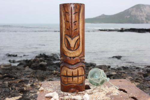 "Happy Tiki Totem 10"" - Antique Finish - Hawaii Gifts"