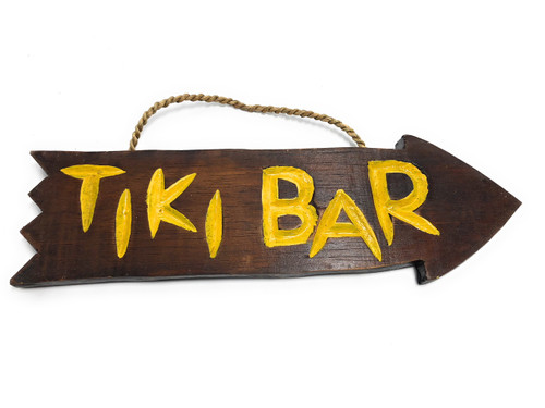 "Tiki Bar Arrow Driftwood Sign 12"" - Tropical Decor   #Dpt528430"