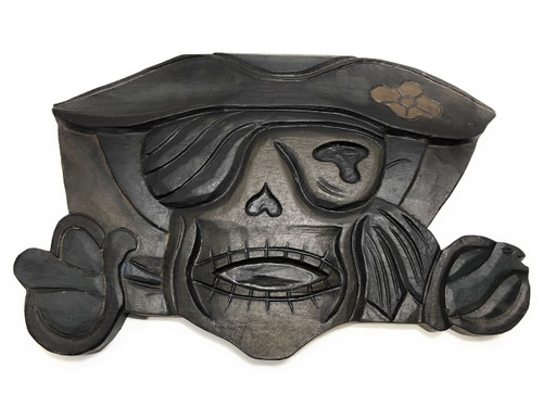 """Pirate Of The Caribbean Sign 14"""" - Hand Carved Pirate Decor 