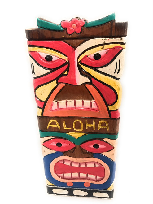 Colorful Love &b Prosperity Tiki Mask 12"