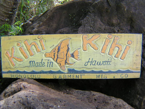 "VINTAGE HAWAII ""KIHI KIHI"" TIKI BAR SIGN - 30"" - ISLAND DECOR"
