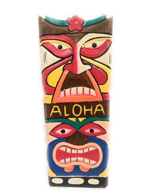 "Colorful ""Aloha"" Tiki Mask 20"" - Love & Prosperity | #dpt515750"