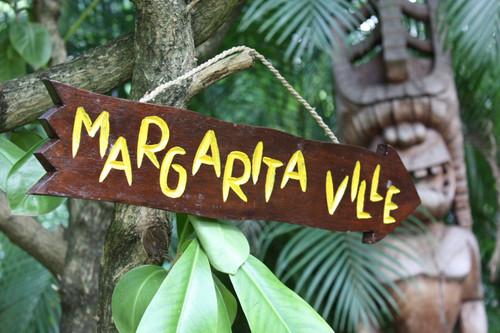 """""""MARGARITAVILLE"""" DRIFTWOOD SIGN 20"""" - POOL DECOR"""
