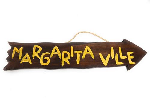 "Margaritaville Arrow Driftwood Sign 20"" - Tropical Decor   #dpt528850"
