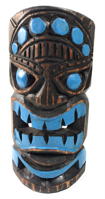 "Ocean Tiki Mask 8"" - Hand Carved Tiki Decor 