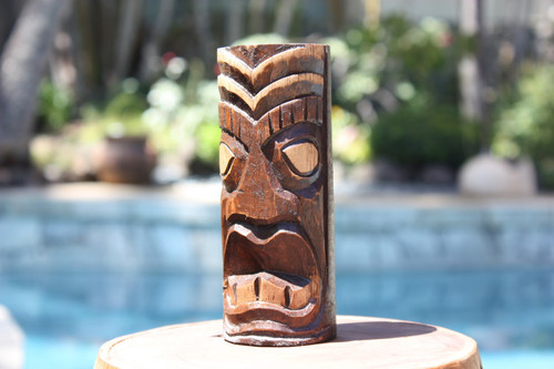 "Big Kahuna Tiki Totem 6"" - Hand Carved"