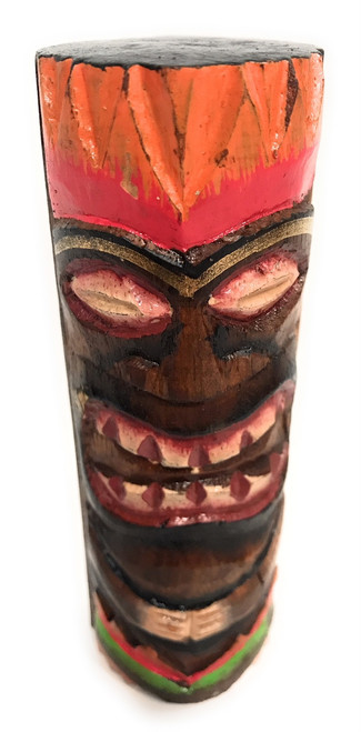 "Tiki Totem 5"" w/ Lava Hawaii - Hand Carved & Painted 