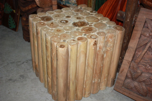 "Teak Root Pedestal/Stand 16"" X 16"" - Bali Art Decor 