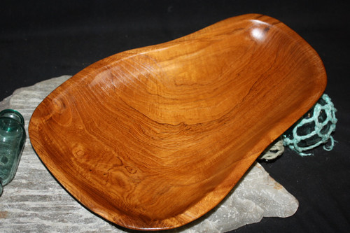 "Rustic Wooden Tray 14""X10""X2"" Teak Root | #HWA139"