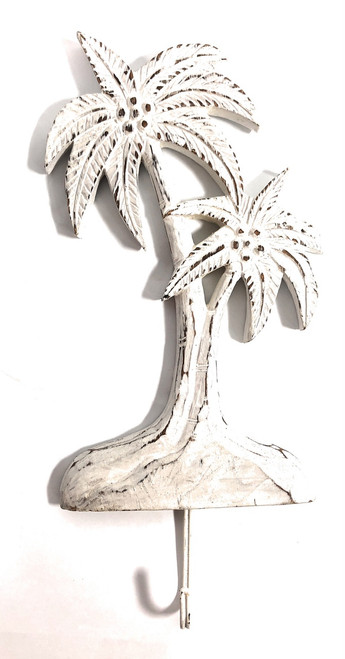 "Palm Tree Hanger 12"" - Rustic Coastal Decor 