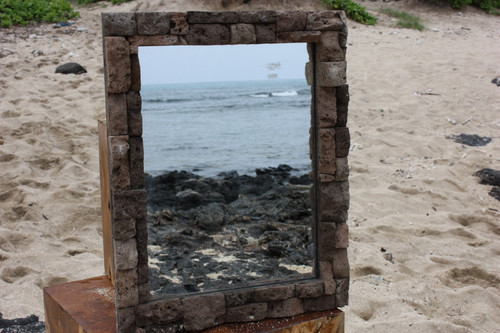 "Lava Rock Rectangular Mirror 16""x20"" - Coastal Living"