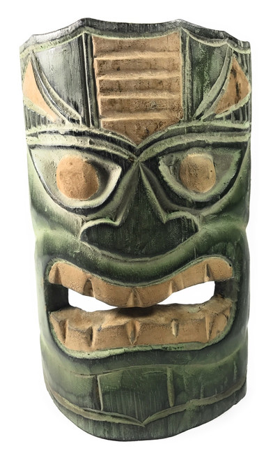 "Learning Tiki Mask 8"" - Lono Tiki Idol Hand Carved 