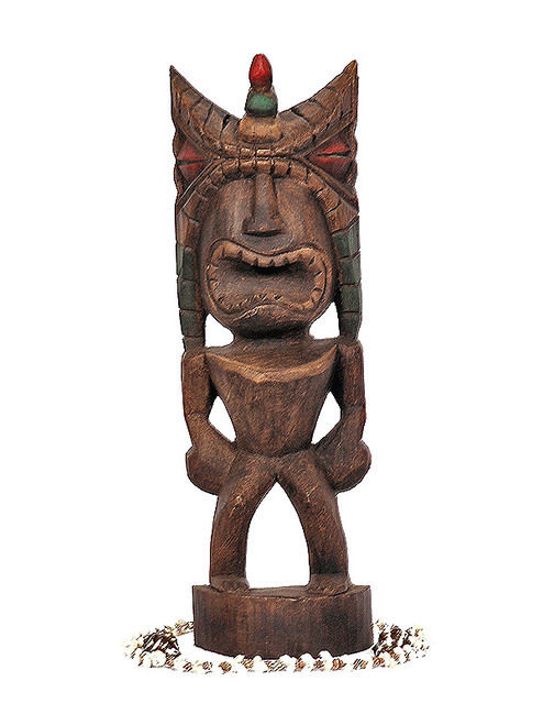 "Money Tiki 16"" - Hand Carved & Hand Painted"