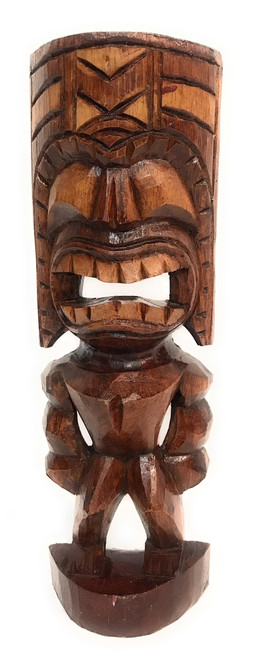 "Big Kahuna Tiki 12"" - Golden Oak Finish - Tiki Trophies 
