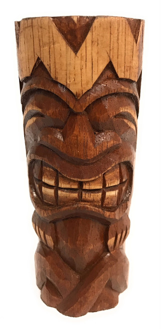 "Big Chief  Tiki Totem 6"" - Hand Carved | #dpt5330f"