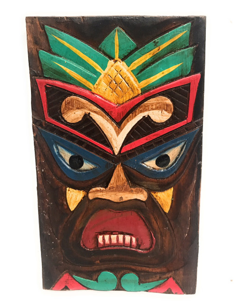 "Hospitality Tiki Shield Mask 8"" Plaque - Pop Art Culture   #dpt512520"