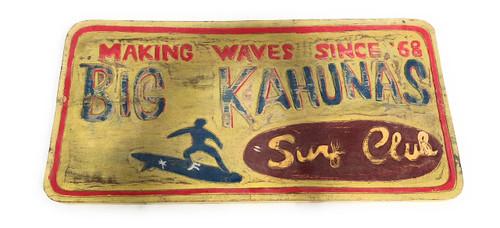 """Big Kahunas Surf Club"" Surf Sign 24"" | #bds1209960"