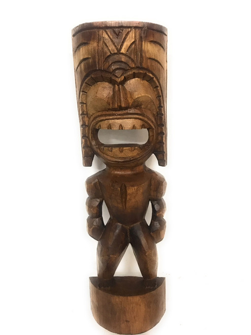 "Big Kahuna Tiki 20"" - Golden Oak Finish - Tiki Trophies 