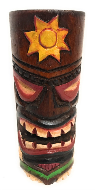 "Tiki Totem 6"" w/ Sunny Hawaii - Hand Carved & Painted 