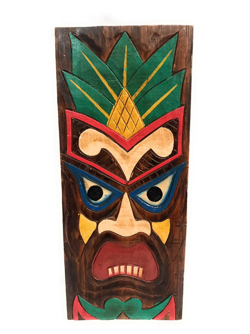 "Hospitality Tiki Shield Mask 20"" Plaque - Pop Art Culture | #dpt512550"