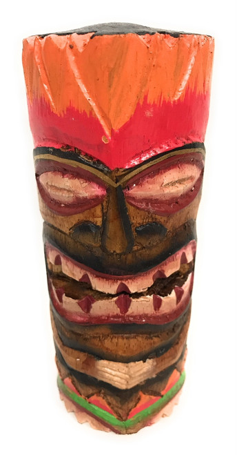 "Tiki Totem 6"" w/ Lava Hawaii - Hand Carved & Painted 