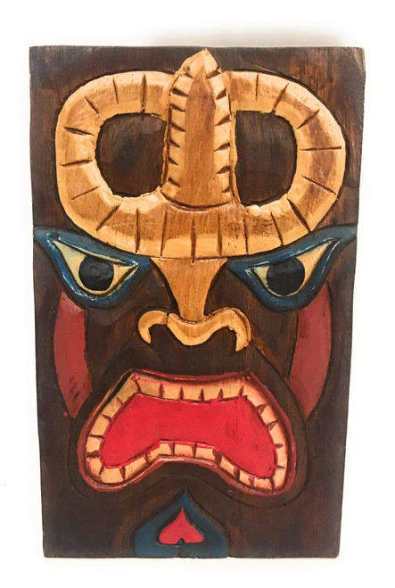 "Tiki Shield Mask 8"" Plaque - Pop Art Culture 