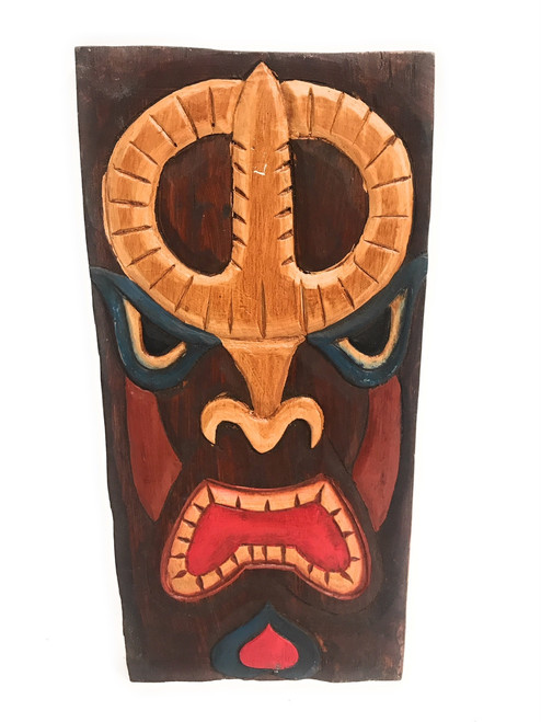 "Tiki Shield Mask 12"" Plaque - Pop Art Culture 