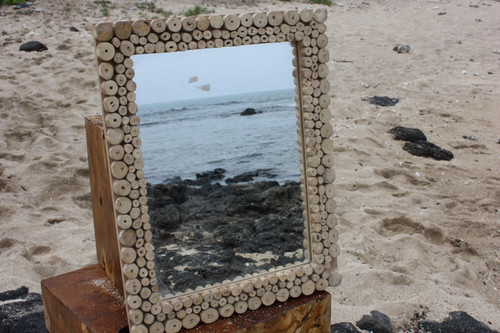 "Coffee Tree Cuts Rectangular Mirror 16""x20"" - Coastal Living"
