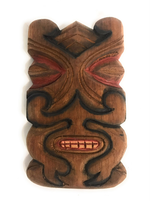 "Tiki Mask Shield 8"" Wall Plaque - Pop Art 