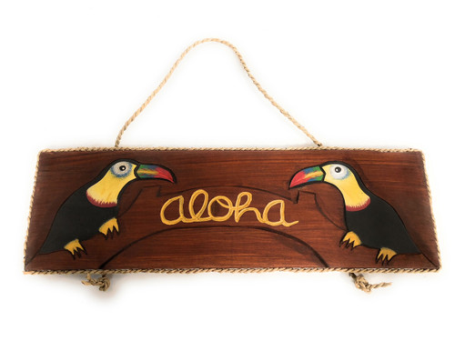 "Aloha Sign 16"" w/ Parrots - Tequilaville Island Style 