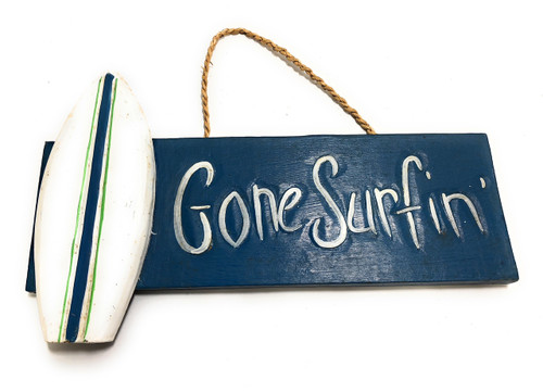 "Gone Surfin' Sign 14"" - Surfing Beach Decor 