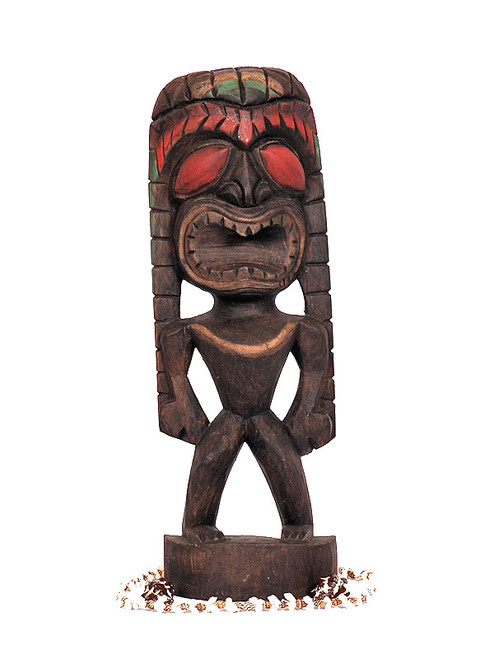 "Lucky Tiki 16"" - Hand Carved - Hawaiian Tiki Decor"