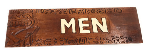 "Men Bathroom Sign 24"" W/ Plumeria Flowers - Restaurant | #Dpt503380"
