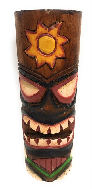 "Tiki Totem 8"" w/ Sunny Hawaii - Hand Carved & Painted 