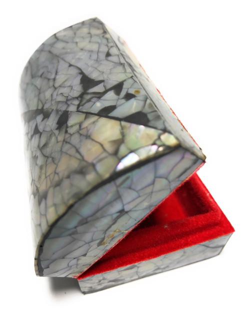 Seashell Keepsake Box Small - Black - Coastal Decor | #frs27007bs
