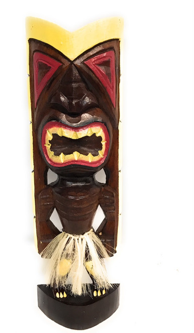"Big Chief Tiki God 16"" - Hand Carved - Hawaii Treasure 