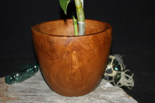 "Wooden Vase Rustic Bowl Sculpture 9"" X 9"" X 8"" 