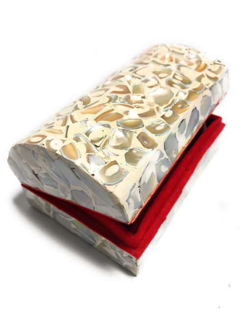 Seashell Keepsake Box Large - White - Coastal Decor | #frs27007wl