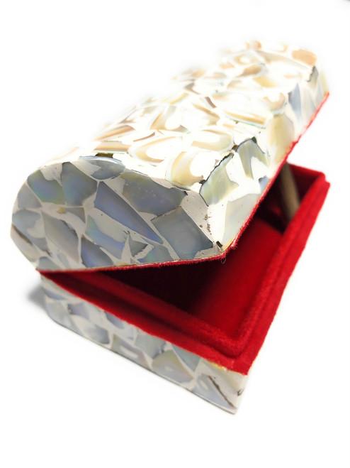 Seashell Keepsake Box Medium - White - Coastal Decor | #frs27007wm