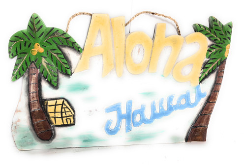 "Aloha, Hawaii Rustic Sign 20"" - Hawaiian Decor 
