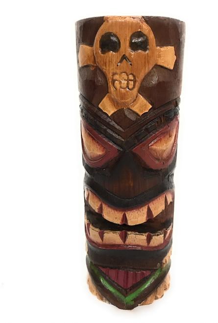 "Tiki Totem 8"" w/ Cross Bone - Skull Decor | #dpt535820h"