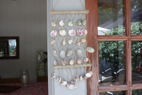 Hanging Net w/ Seashells Medium - Assortment - Coastal Decor